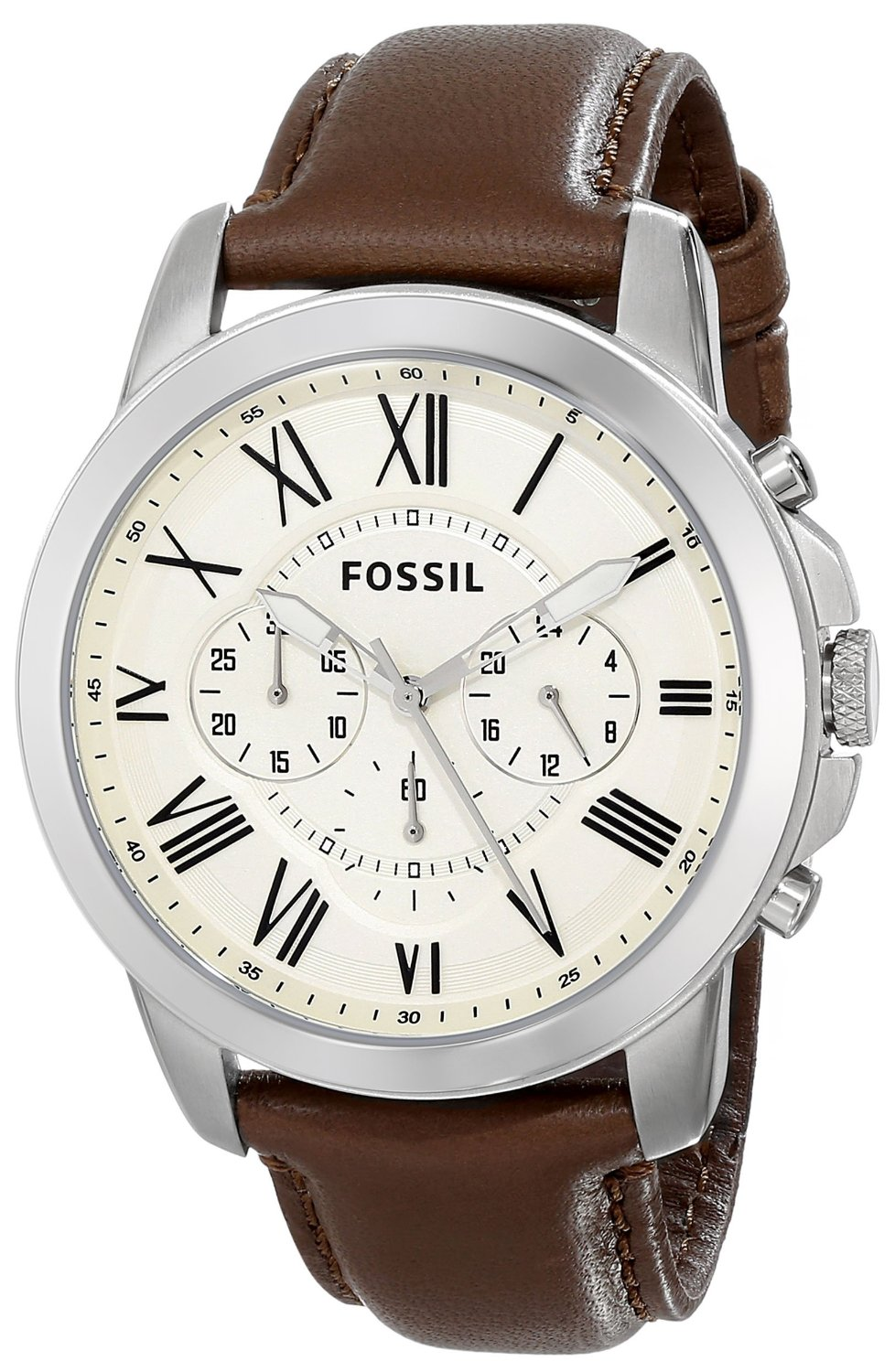 Fossil FS4735 Grant Brown Leather Watch (1)