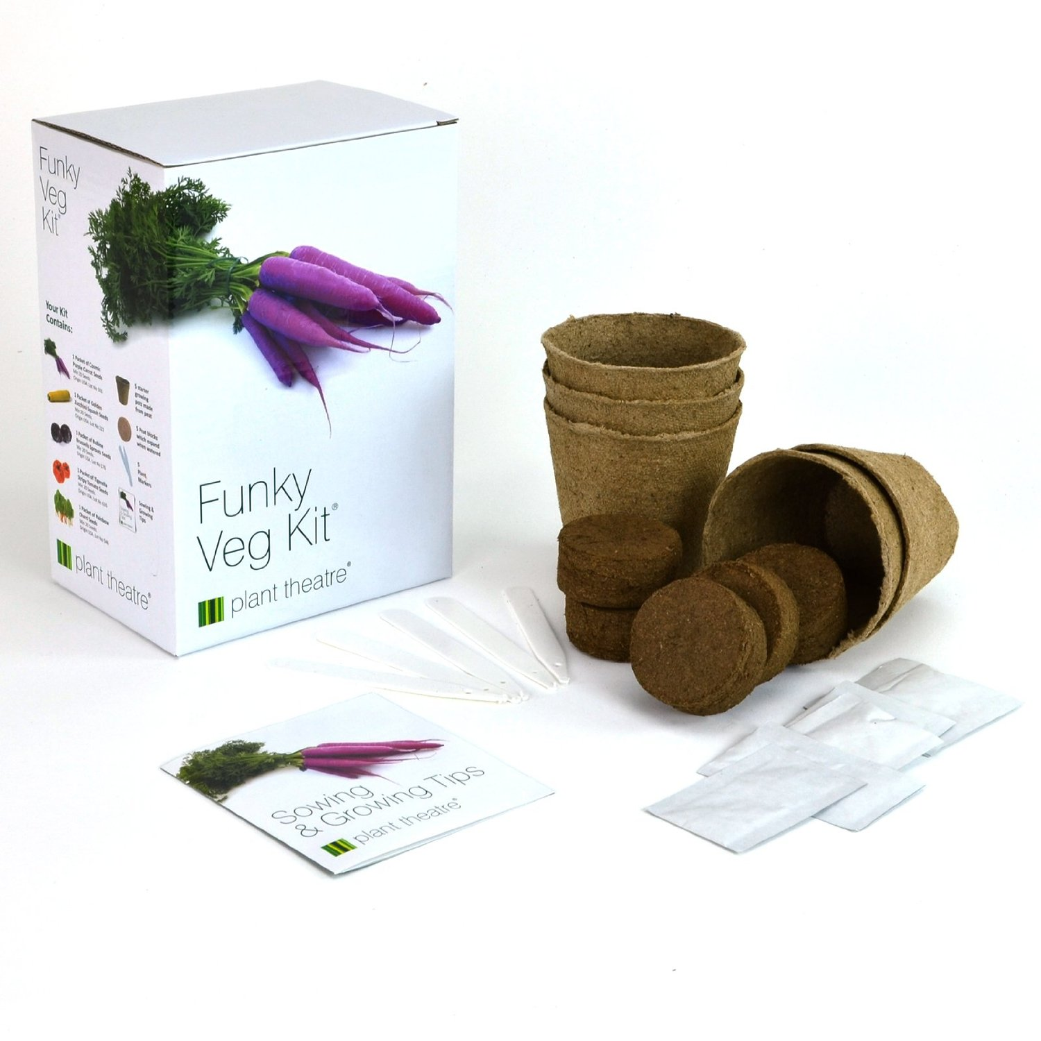 Funky Veg Kit by Plant Theatre - 5 Extraordinary Vegetables to Grow - Great Gift (2)