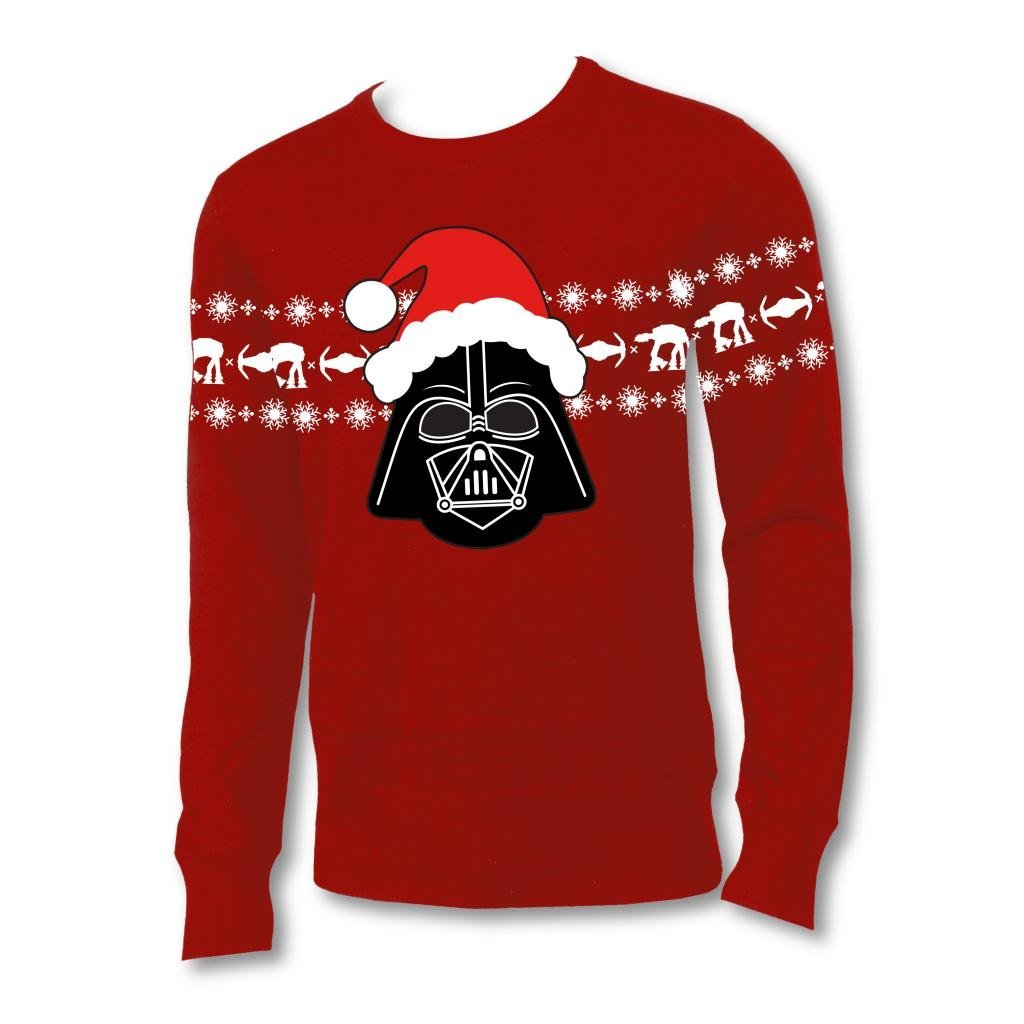 Star Wars Santa Hat Vader Adult Red Ugly Christmas Sweater (2)